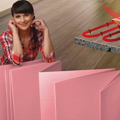 Подложка -гармошка для теплого пола Solid 1.8 мм Розовая