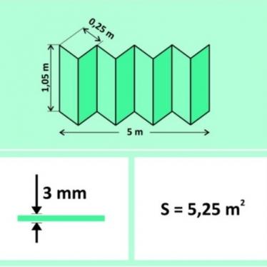 Подложка-гармошка Solid 3 мм Зелёная - купить в «Начни Ремонт» интернет-магазин — продажа напольных покрытий. - 1