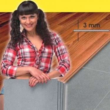 Подложка Листовая Solid 3 мм Серая - купить в «Начни Ремонт» интернет-магазин — продажа напольных покрытий.