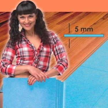 Подложка Листовая Solid 5 мм Синяя - купить в «Начни Ремонт» интернет-магазин — продажа напольных покрытий.
