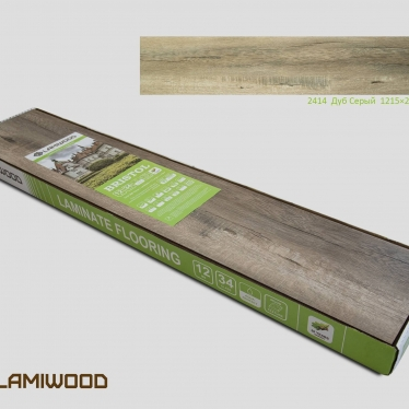 Ламинат Lamiwood Дуб Серый 2414 - купить в «Начни Ремонт» интернет-магазин — продажа напольных покрытий. - 5