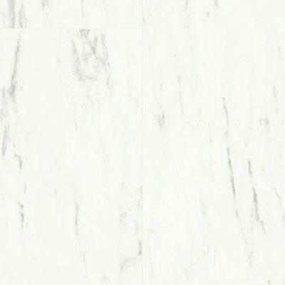 Виниловый ламинат Quick-Step Мрамор каррарский белый 40136 Ambient Glue Plus
