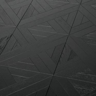 Модульный паркет Marco Ferutti Linea Дуб Неро Черный - купить в «Начни Ремонт» интернет-магазин — продажа напольных покрытий. - 3