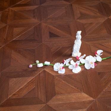 Модульный паркет Marco Ferutti Castello Дуб Термо - купить в «Начни Ремонт» интернет-магазин — продажа напольных покрытий. - 3