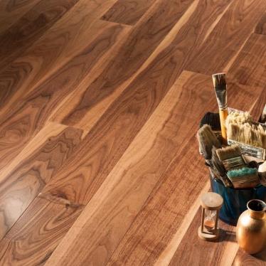 Инженерная доска Coswick Натуральный Американский Орех - купить в «Начни Ремонт» интернет-магазин — продажа напольных покрытий. - 1