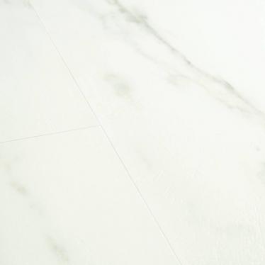 Виниловый ламинат Quick-Step Мрамор каррарский белый 40136 Ambient Click - купить в «Начни Ремонт» интернет-магазин — продажа напольных покрытий. - 2