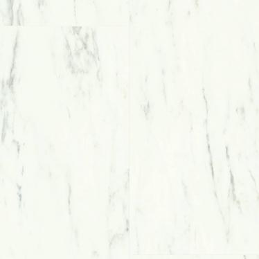 Виниловый ламинат Quick-Step Мрамор каррарский белый 40136 Ambient Click - купить в «Начни Ремонт» интернет-магазин — продажа напольных покрытий.