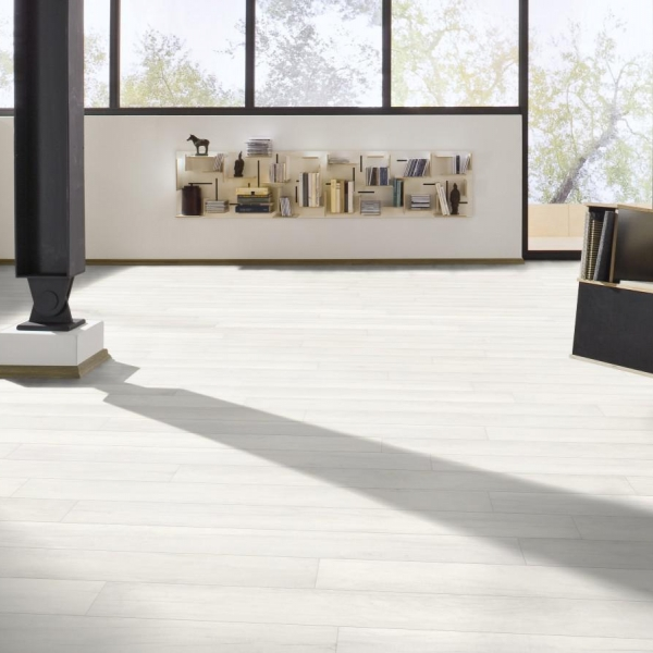 Ламинат Meister Дуб белый непрозрачный 6536 - купить в «Начни Ремонт» интернет-магазин — продажа напольных покрытий. - 8
