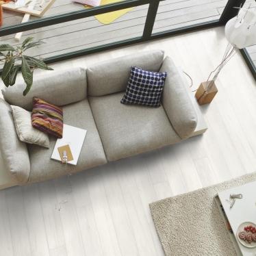 Ламинат Meister Дуб белый непрозрачный 6536 - купить в «Начни Ремонт» интернет-магазин — продажа напольных покрытий. - 6