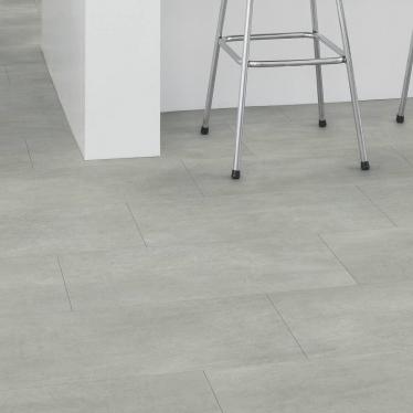 Виниловый ламинат Quick-Step Бетон тёплый серый 40050 Ambient Glue Plus - купить в «Начни Ремонт» интернет-магазин — продажа напольных покрытий. - 2